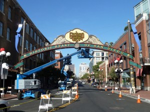2012 Gaslamp Quarter Archway Rehabilitation. Photo Credit: Byron Wade