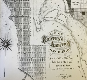 Map of Horton's Addition. Photo Credit: San Diego Historical Society