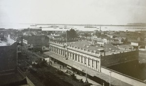 View of Backesto Building and San Diego Bay in 1888. Photo Credit: San Diego Historical Society