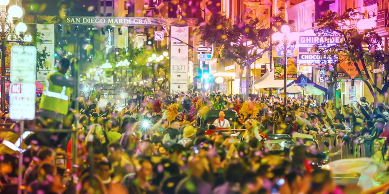 MardiGras-Image gaslamp san diego