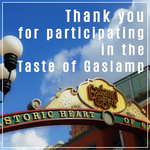 22nd Annual Taste of Gaslamp – Opportunity Drawing Results
