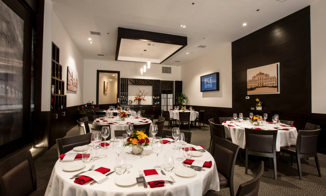 BiCE Ristorante Private Events Group Dining San Diego