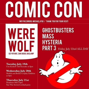 Comic Con 2016- Restaurant Spotlight on Gaslamp's Werewolf!