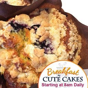 Cute Cakes is Now Serving Breakfast!