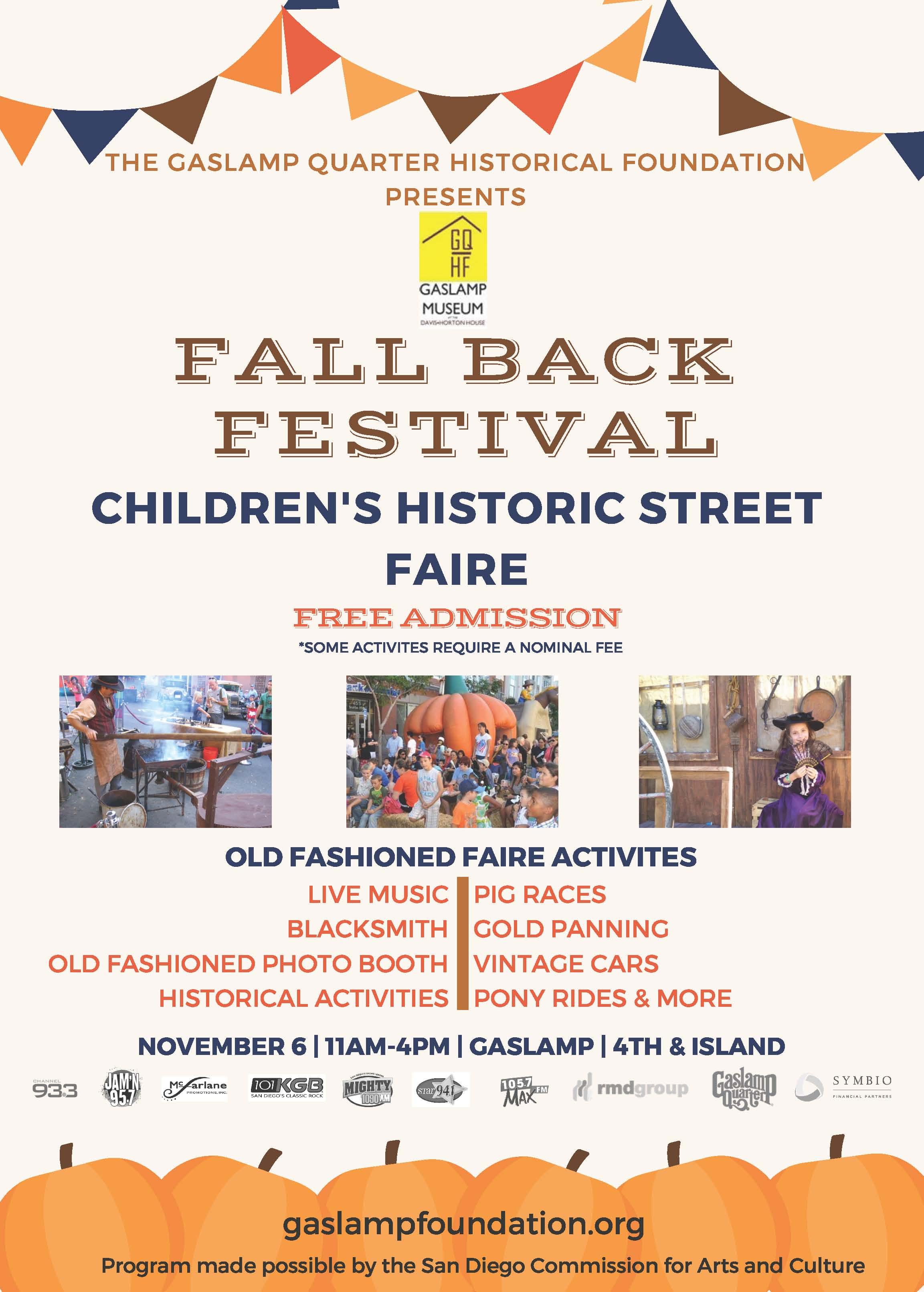 fall back flyer logos san diego gaslamp