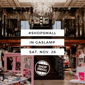 #shopsmall Saturday, November 26!