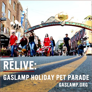 Relive the 9th Annual Gaslamp Holiday Pet Parade!