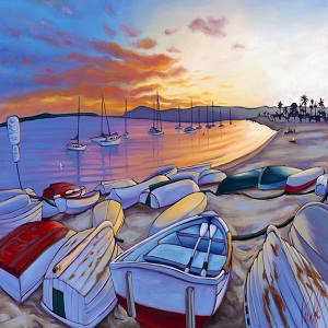 """Sunset on San Diego Bay"" by Grant Pecoff"