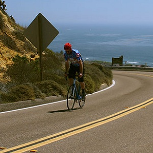 Road biker in San Diego