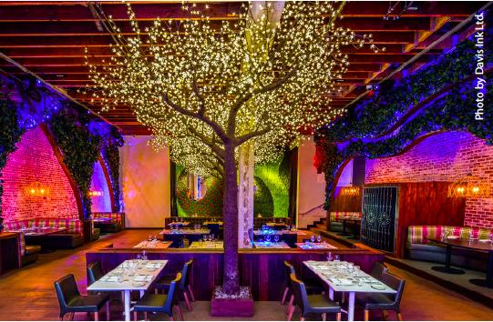 Parq-Restaurant-Tree gaslamp san diego