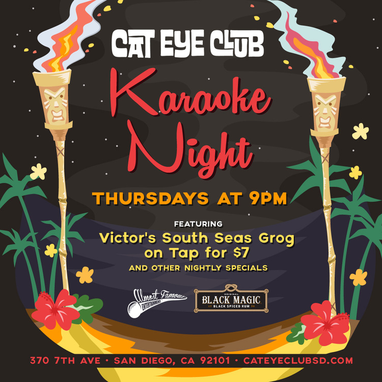 Cat-Eye-Club-Thursday-Karaoke gaslamp san diego