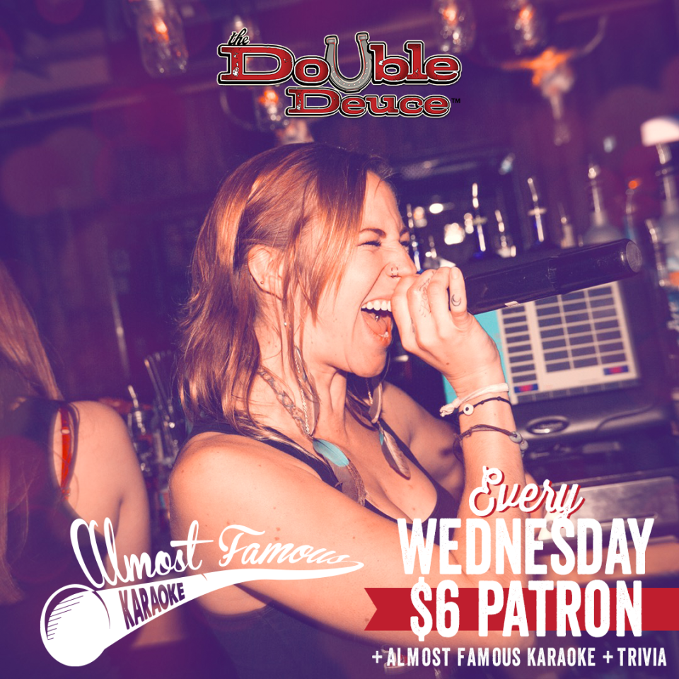 Double-Deuce-Wednesday-Karaoke-and-Trivia-and-Patron gaslamp san diego
