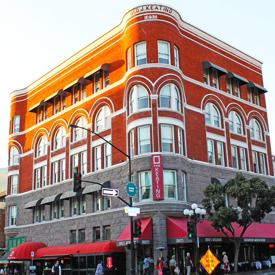 Downtown San Diego Gaslamp Quarter keating hotel