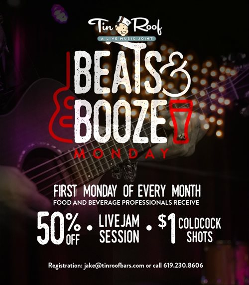 Tin-Roof-Monday-Beats-and-Booze gaslamp san diego