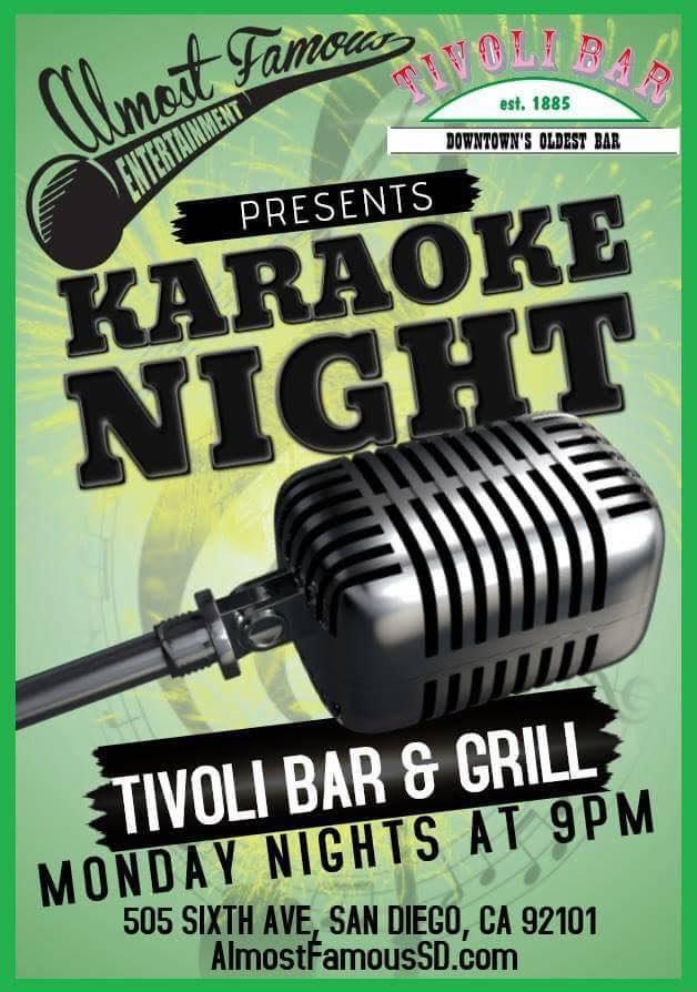 Tivoli-Monday-Karaoke gaslamp san diego