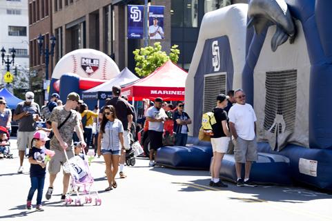 Downtown San Diego Gaslamp Quarter Padres FanFest
