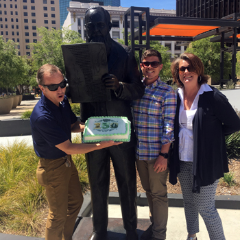 Downtown San Diego Gaslamp Quarter 150 Anniversary Alonzo Horton