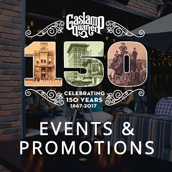 downtown san diego gaslamp quarter 150th anniversary night padres
