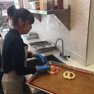Making the pretzel