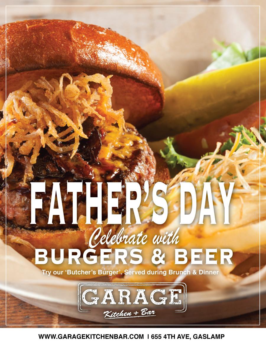 Garage-Fathers-day gaslamp san diego