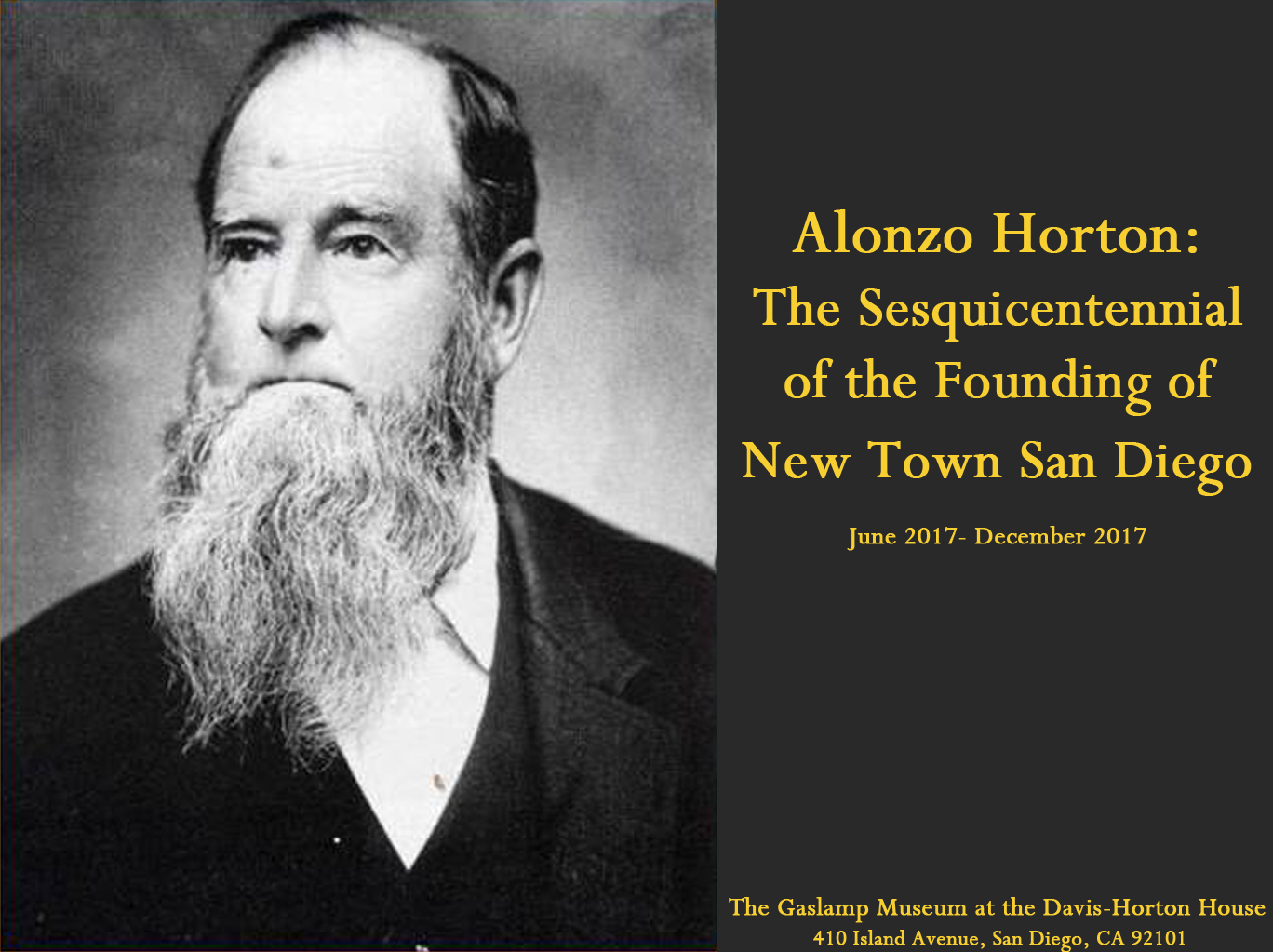 downtown san diego gaslamp quarter gaslamp museum new Alonzo Horton exhibit