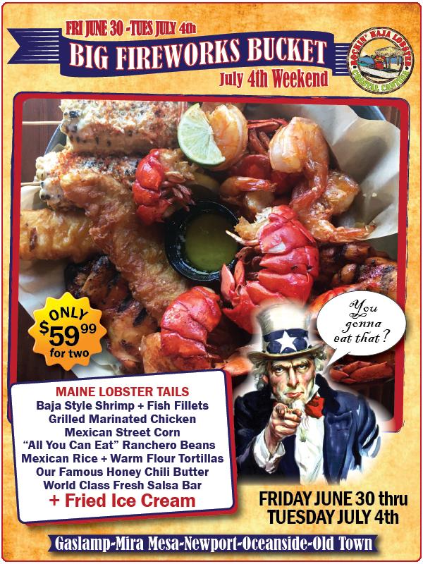 downtown san diego gaslamp quarter rockin' baja lobster