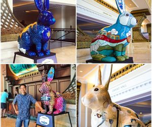 "The Manchester Grand Hyatt exhibits ""Rabbitville"" as part of their Grand Art Series"