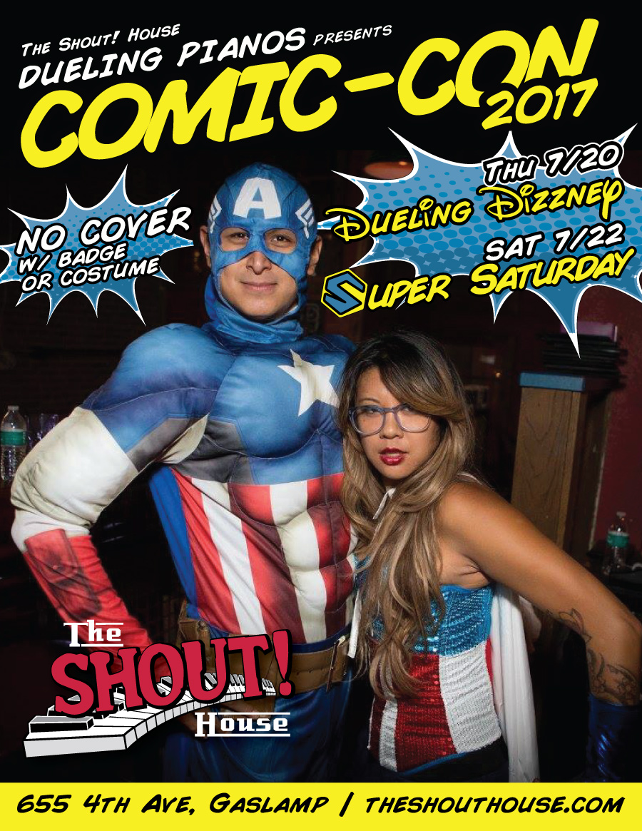 downtown san diego gaslamp quarter comic-con the shout house
