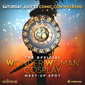 downtown san diego gaslamp quarter comic-con side bar wonder woman