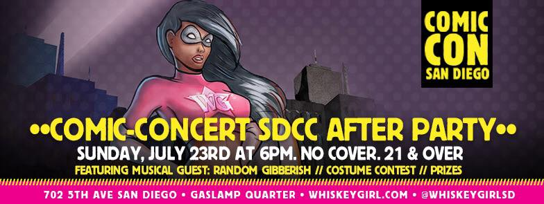 downtown san diego gaslamp quarter comic-con whiskey girl