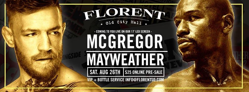 downtown san diego gaslamp quarter florent mayweater vs mcgregor