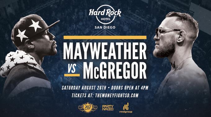 downtown san diego gaslamp quarter hard rock hotel mayweater vs mcgregor