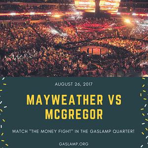 downtown san diego gaslamp quarter mayweather vs mcgregor