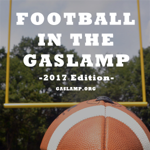 downtown san diego gaslamp quarter football