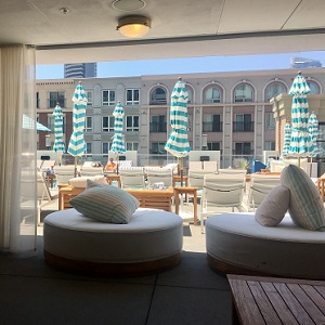 Looking out from the cabana