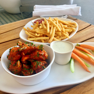 lollypop chicken wings, togarashi fries