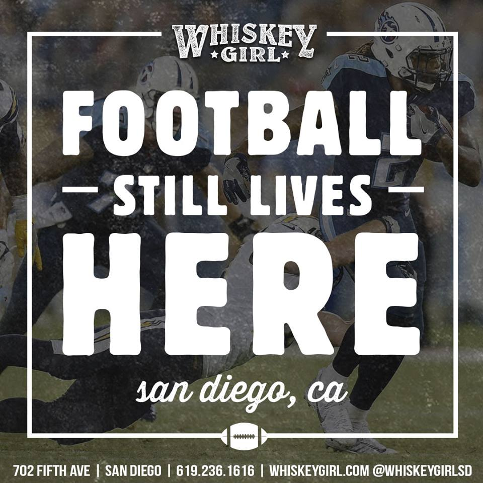 downtown san diego gaslamp quarter whiskey girl football