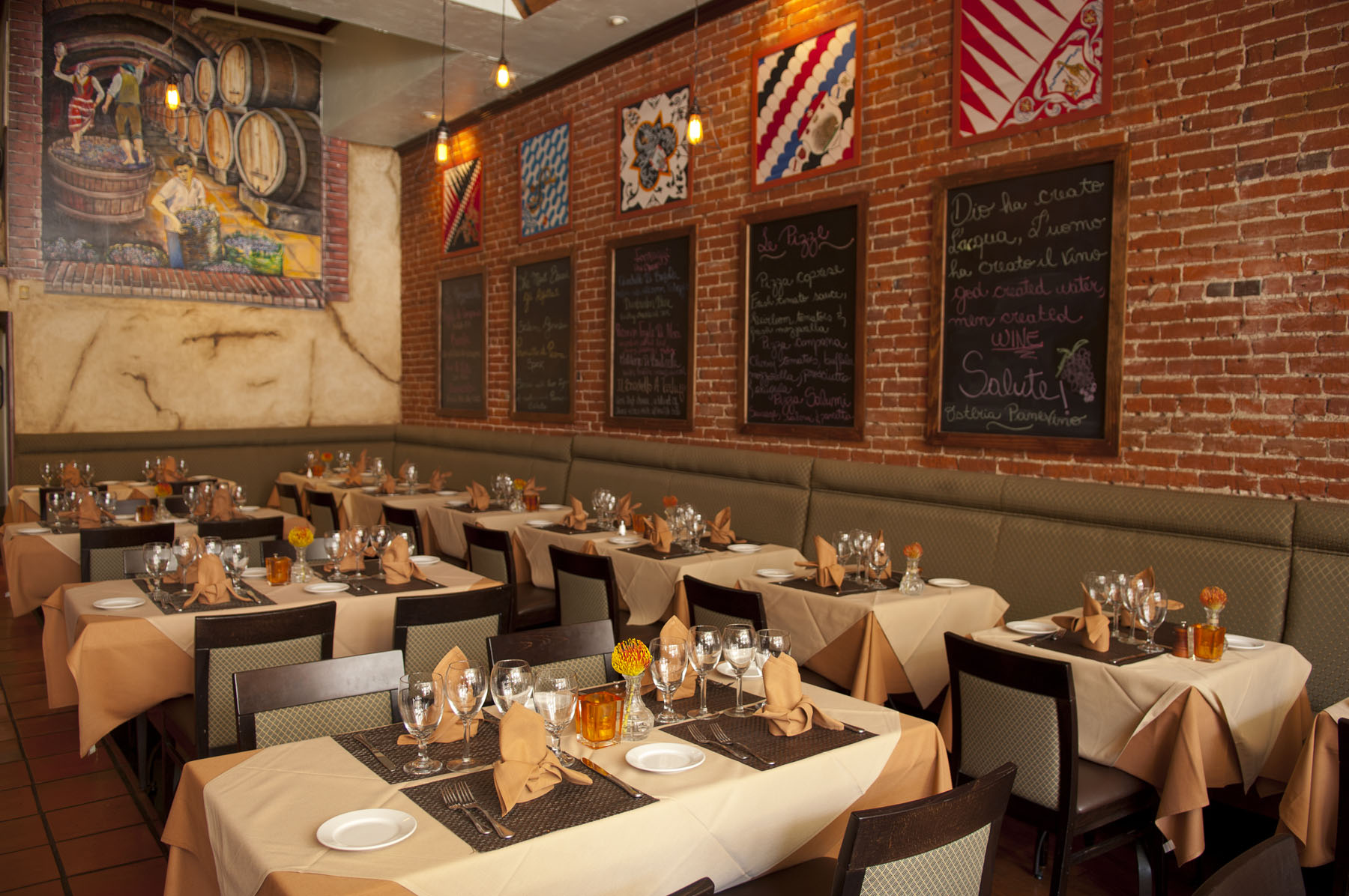 Italian Group Dining Private Events Panevino Gaslamp
