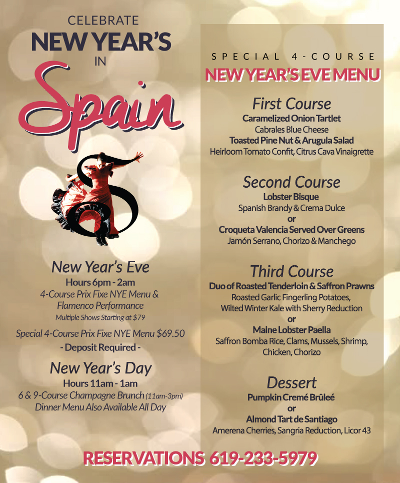 downtown san diego gaslamp quarter new year's cafe sevilla