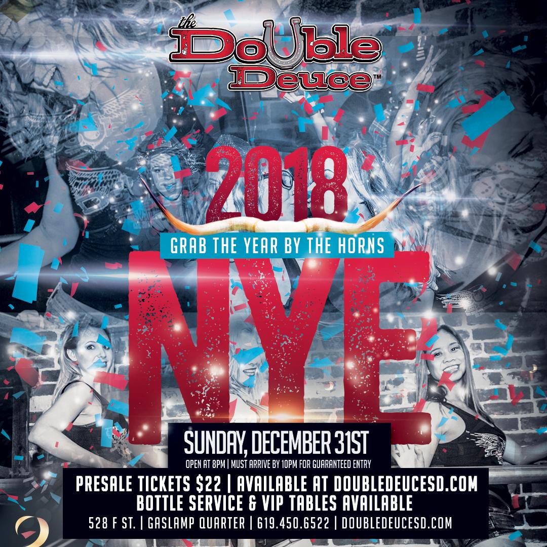 Double-Deuce-2018-NYE gaslamp san diego