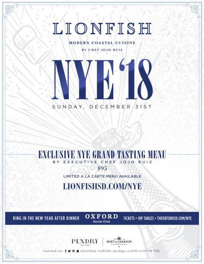 Lionfish-2018-NYE gaslamp san diego
