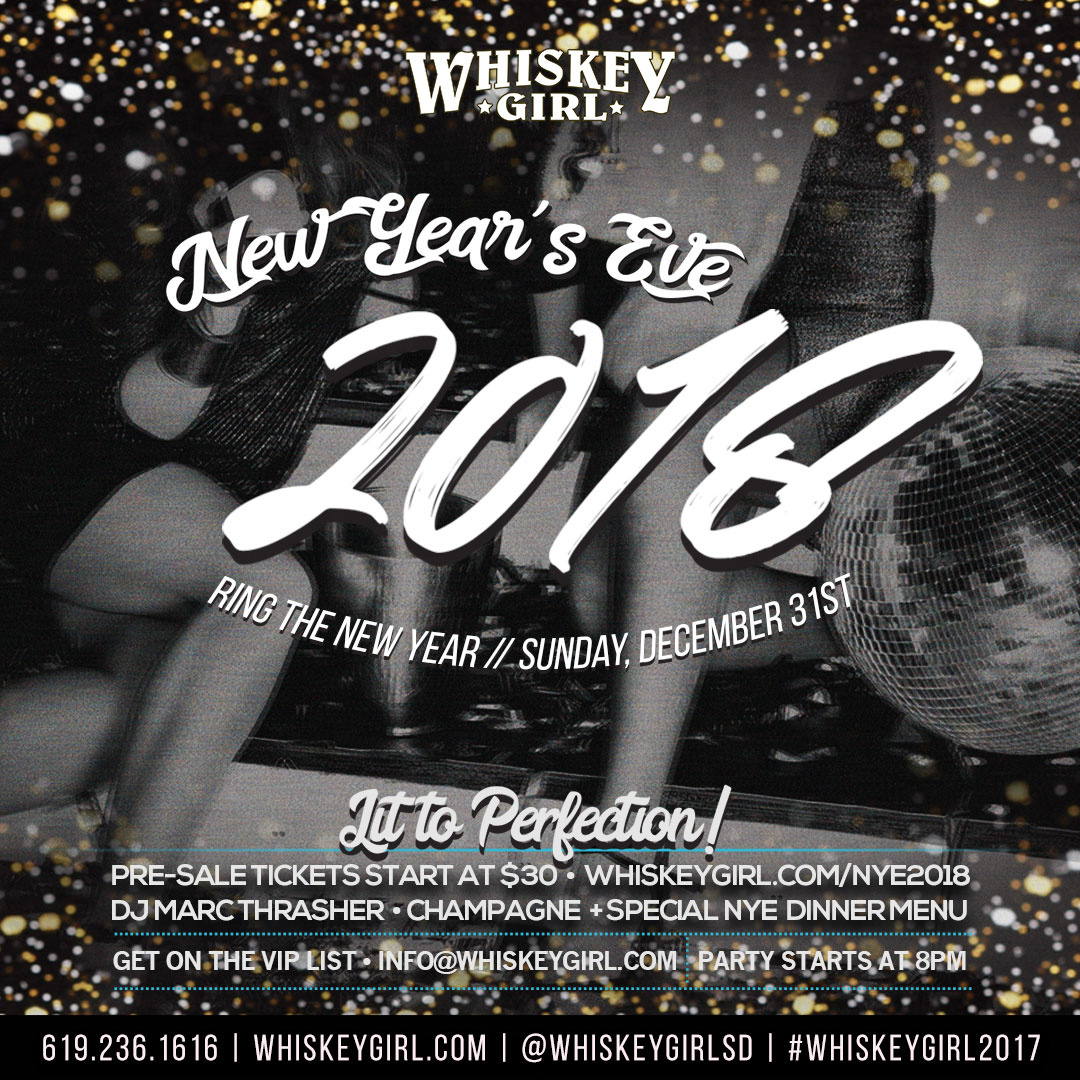 downtown san diego gaslamp quarter new year's whiskey girl