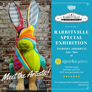 Don't Miss the Rabbits of Rabbitville at Sparks Gallery Thursday, January 25th 6PM-9PM