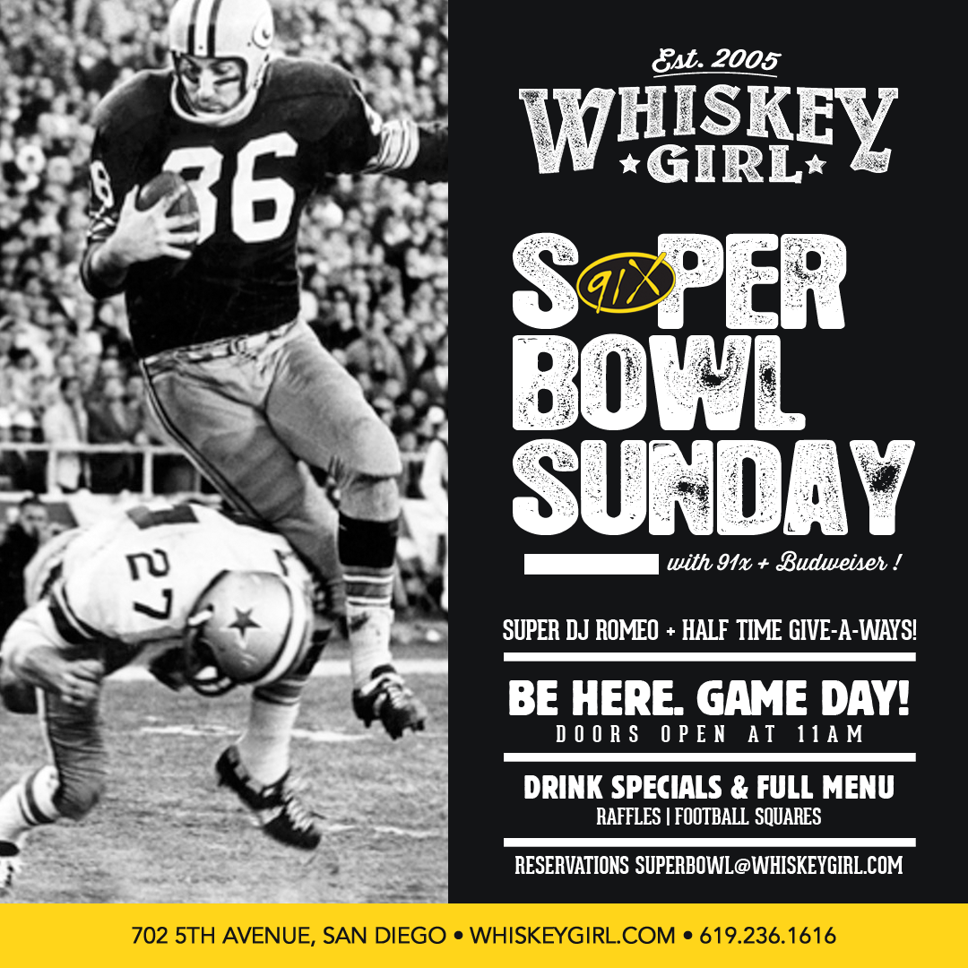 downtown san diego gaslamp quarter super bowl whiskey girl