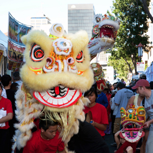 CNY-Lion-dragon-in-background-300 gaslamp san diego