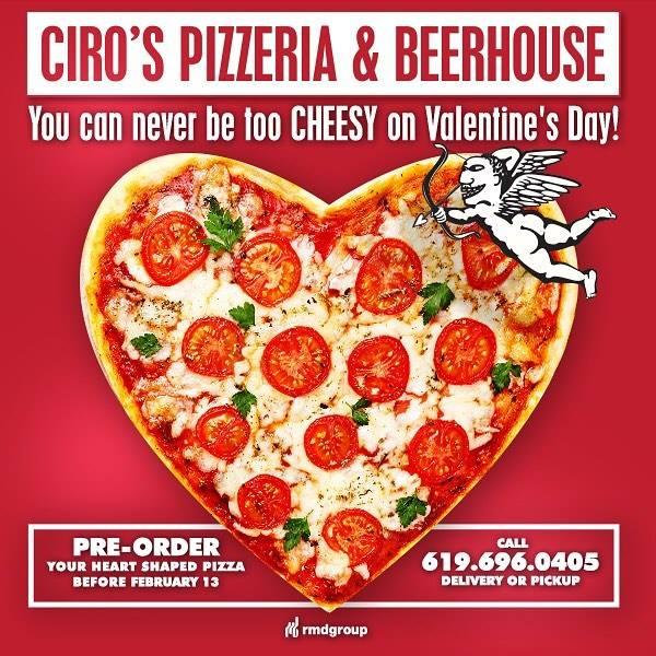 downtown san diego gaslamp quarter valentine's day ciro's pizzeria beerhouse