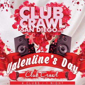 downtown san diego gaslamp quarter valentine's day club crawl