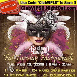 club-vip-fat-tuesday-masquerade-2018 gaslamp san diego