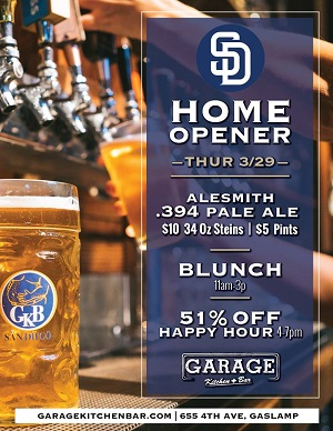 downtown san diego gaslamp quarter padres opening day garage kitchen and bar