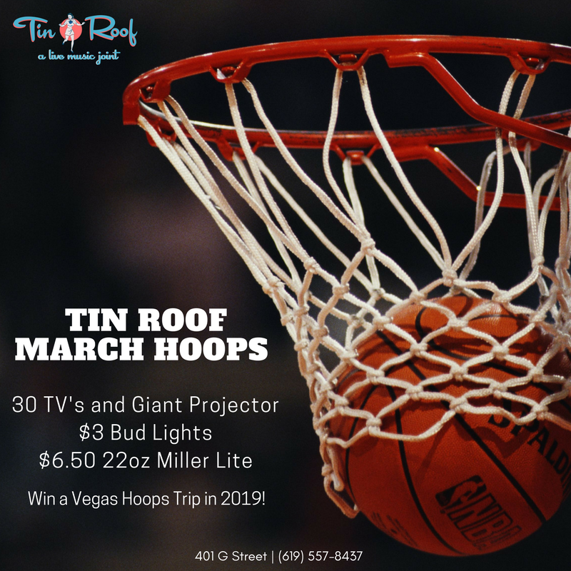 Tin-Roof-march-madness gaslamp san diego